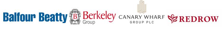 BB, Berkeley, Canary Wharf Group, Redrow
